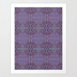 """Lavender lotus"" floral arabesque pattern Art Print"