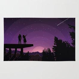 Falling star night Rug