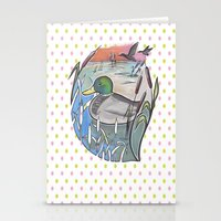 ducks Stationery Cards featuring Ducks by Inez Gulyas