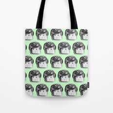 Minifigure Pattern – Mint Tote Bag