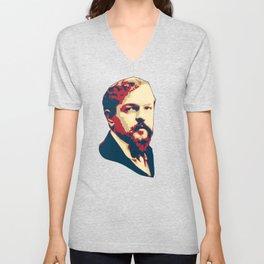 Claude Debussy Unisex V-Neck