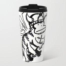 Vanguard of the Viking Ape-Bee Raiding Party Travel Mug