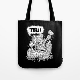 Tiki Carver... Rat Fink Monster Chisler! Tote Bag