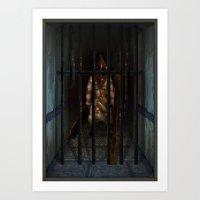 Pixel Art series 6 : Pyramid Art Print