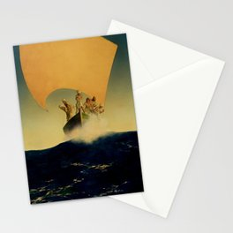 """""""The Pirate Ship"""" by Maxfield Parrish Stationery Cards"""