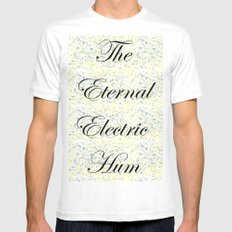 Eternal Electric Hum MEDIUM Mens Fitted Tee White