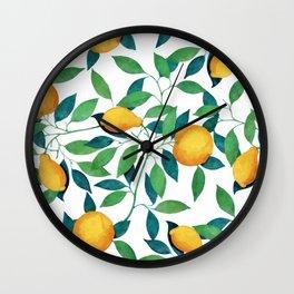 Lemon pattern II Wall Clock
