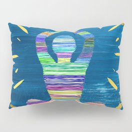 Inner Peace - A Modern Abstract - A person Meditating Pillow Sham