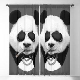 Panda in Black Blackout Curtain