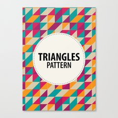 Triangles Pattern Canvas Print