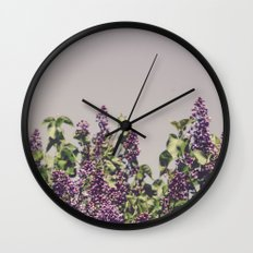 Wild Lilacs Wall Clock