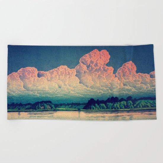 Admiring the Clouds in Kono Beach Towel
