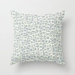 Black Tie Collection Links Grey Throw Pillow