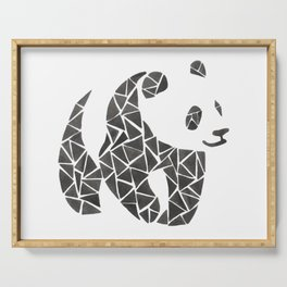 Geometric panda Serving Tray