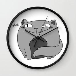Fat Cat with a Smug Face Wall Clock