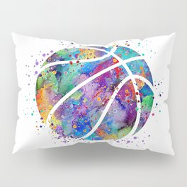Basketball Watercolor Art Print Sports Poster Home Decor Kids Room Sports Painting Nursery Decor Pillow Sham