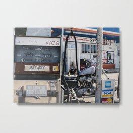 Vintage Gas Station Metal Print