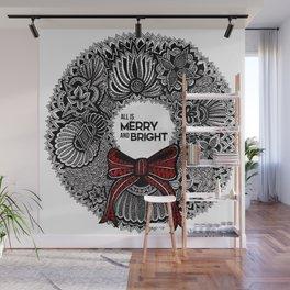 Holiday Wreath Wall Mural