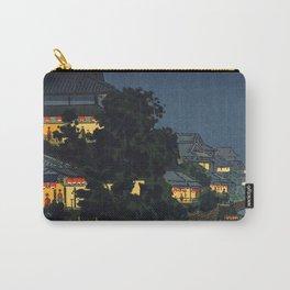 Tsuchiya Koitsu - Yanagibashi - Japanese Vintage Woodblock Painting Carry-All Pouch