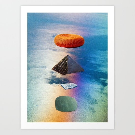 pyramid stack Art Print