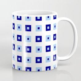 square and tartan 13 blue Coffee Mug