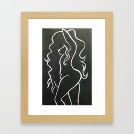 Shape of her Framed Art Print