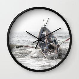 Get In The Boat! Wall Clock