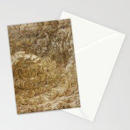 Drama by Leonardo Da Vinci Stationery Cards