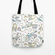 Twittering Tea Party Tote Bag