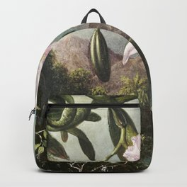 Orchid Blossoms (1873) by Martin Johnson Heade Backpack