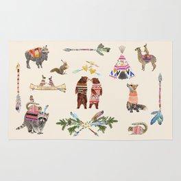 Dancing Bear Couple in Love Rug