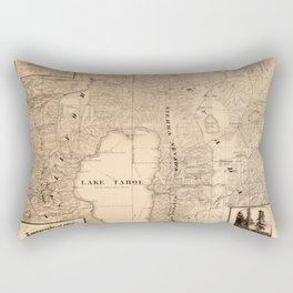 Map Of Lake Tahoe 1874 Rectangular Pillow