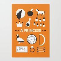 ouat Canvas Prints featuring OUAT - A Princess by Redel Bautista