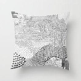 Brush Strokes Throw Pillow