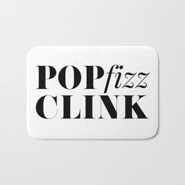 Pop Fizz Clink Bath Mat