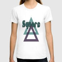 square T-shirts featuring Square by Herzensdinge