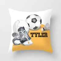 sports Throw Pillows featuring Sports by Neuneu Booboo