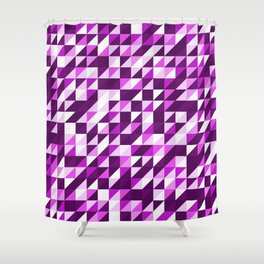 Purple Patchwork Shower Curtain