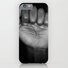 Fists of Rebellion Black and White Art Photographic Print iPhone Case