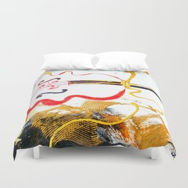 Immersed in Bach Partitas    by Kay Lipton Duvet Cover