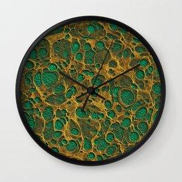 Golden Marble 04 Wall Clock