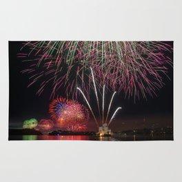 Fireworks on Sydney Harbour Rug