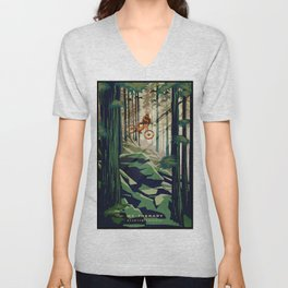 MY THERAPY MOUNTAIN BIKE POSTER Unisex V-Neck