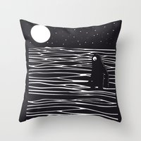 scary Throw Pillows featuring Scary monster! by SpazioC