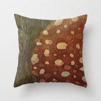 mushroom Throw Pillows featuring mushroom by rysunki-malunki