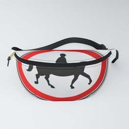 Horse and Rider Road Traffic Sign Fanny Pack