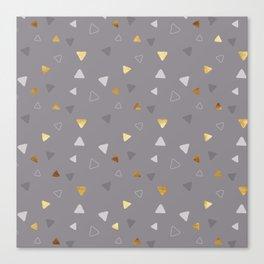 Multi Triangles - Gray Canvas Print