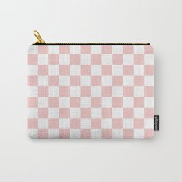Gingham Pink Blush Rose Quartz Checked Pattern Carry-All Pouch