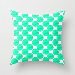 Greenies Throw Pillow