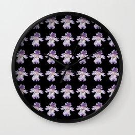 Purple Iris Flower 988 Wall Clock